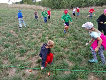 Spaß beim Apfelwettlauf mit Natur reality Ebensfeld Franken
