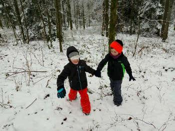 Schneespiele im Wald mit Natur Reality Lichtenfels Franken